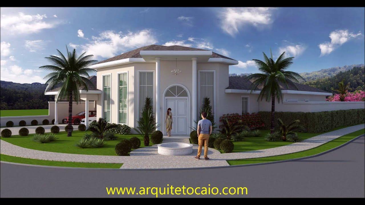 Projeto casa fachada arquitetura cl ssica neocl ssica area for Casa classica moderna