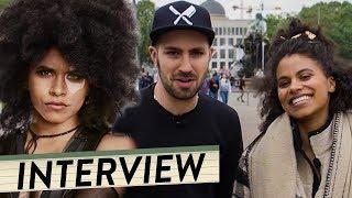 DEADPOOL 2 Star ZAZIE BEETZ im Interview inkl. MEGA Überraschung | komplett auf deutsch