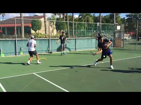 Advanced tennis drills for professional tennis players, coach Brian Dabul