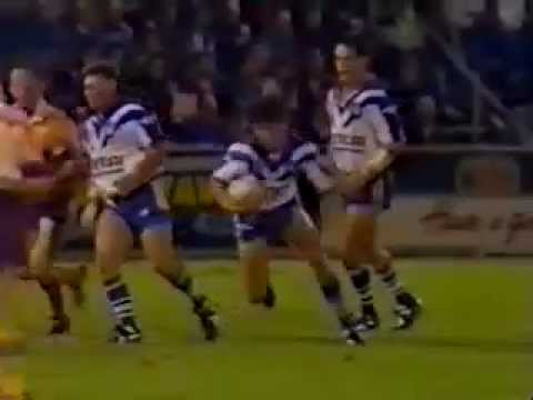 Jim Dymock Try 1993 Rd 2 Canterbury v Brisbane