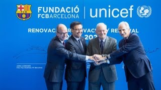 Fc Barcelona And Unicef Renew And Strengthen Their Alliance Youtube