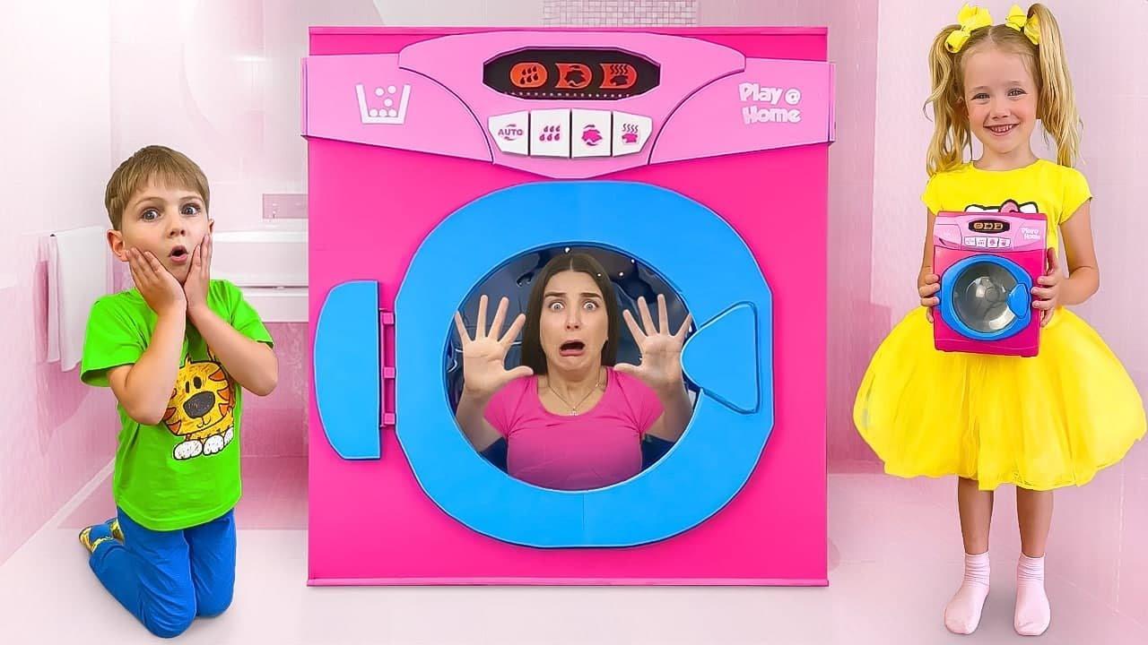 Slava y una historia divertida para niños sobre una lavadora mágica gigante