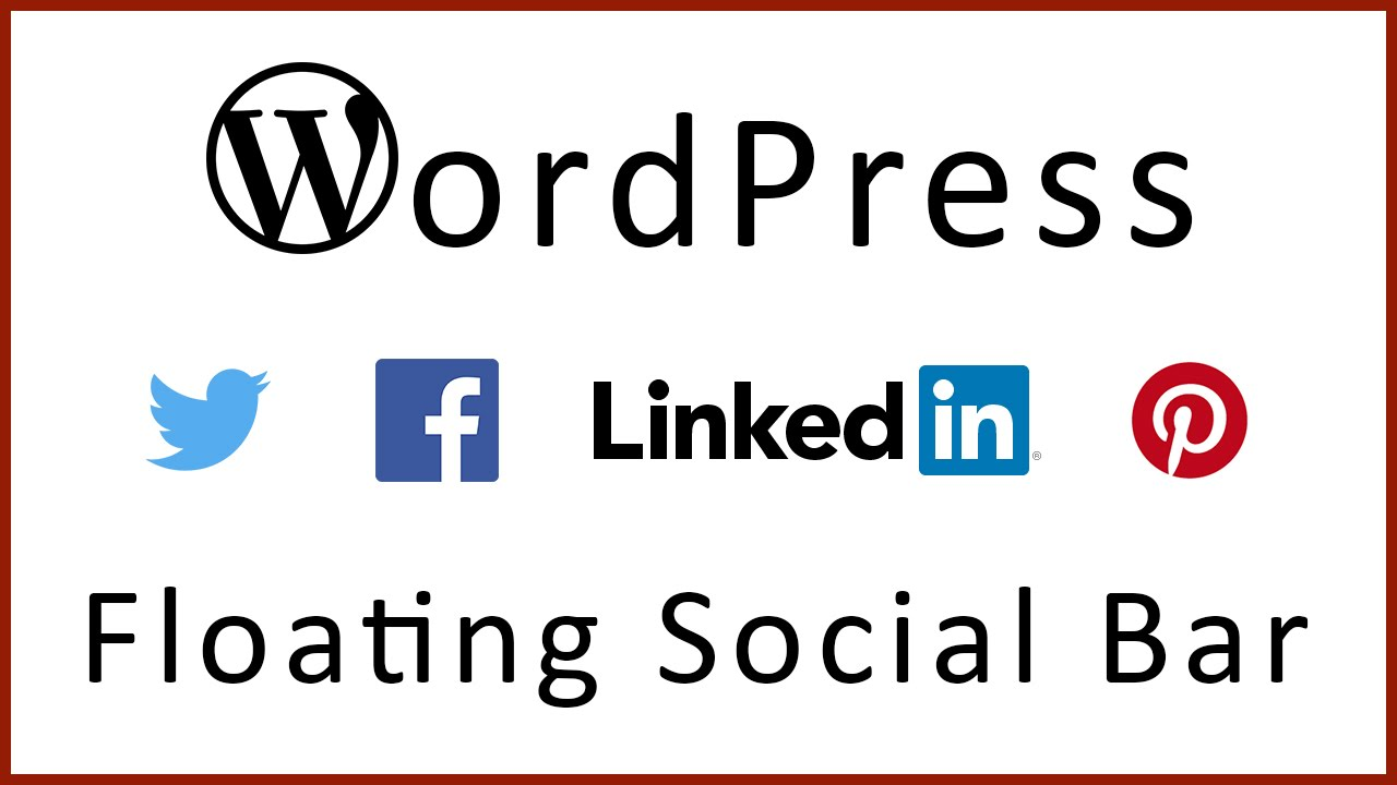 How to Add a Floating Social Bar WordPress Plugins - YouTube