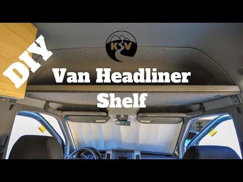 Sprinter Camper Van >> Headliner Shelf - DIY Sprinter Camper Van - YouTube
