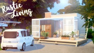 Rustic Living 🏡 🐞 | The Sims 4 Tiny Living | Speed Build | CC Free + Download Links