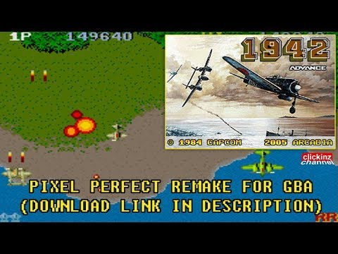 1942 Advance GBA Gameplay 1942 Arcade Game Pixel Perfect Port From ARCADIA Final Remake VBA Emu