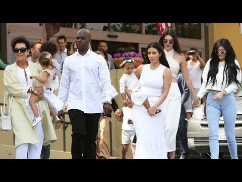 The Kardashian Family Leave Church Dressed In White On Easter Sunday