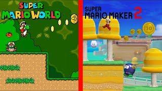 Recreating Super Mario World's 1-2 in Super Mario Maker 2 (SM3DW Style)