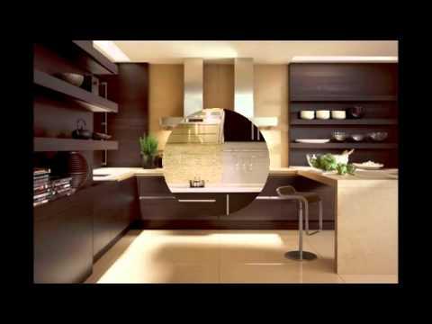 Бело-коричневые кухни в интерьере