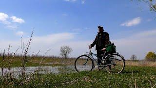 Рыбалка в Астрахани Ловля воблы в период половодья Весенняя рыбалка на велосипеде