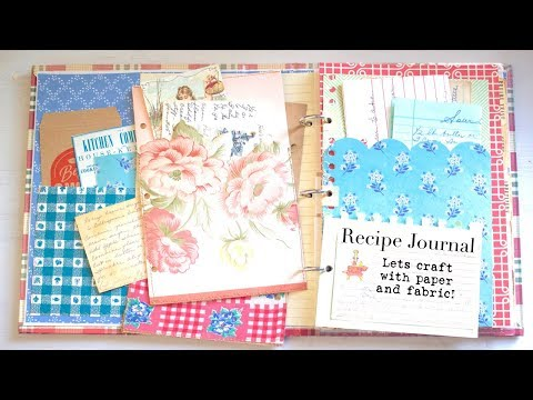 EASY Paper Crafting   Altered Binder   Recipe Organizer - Cookbook Journal
