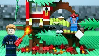 Lego Spiderman Building Lego Tree House | Brick Creation 🔴52