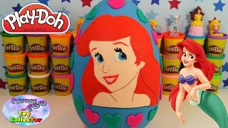 ARIEL Disney Princess GIANT Play Doh Surprise Egg THE LITTLE MERMAID Shopkins Hello Kitty SETC