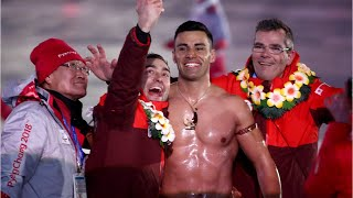 Shirtless Tongan Flag Bearer Returns In 2018 Winter Olympics
