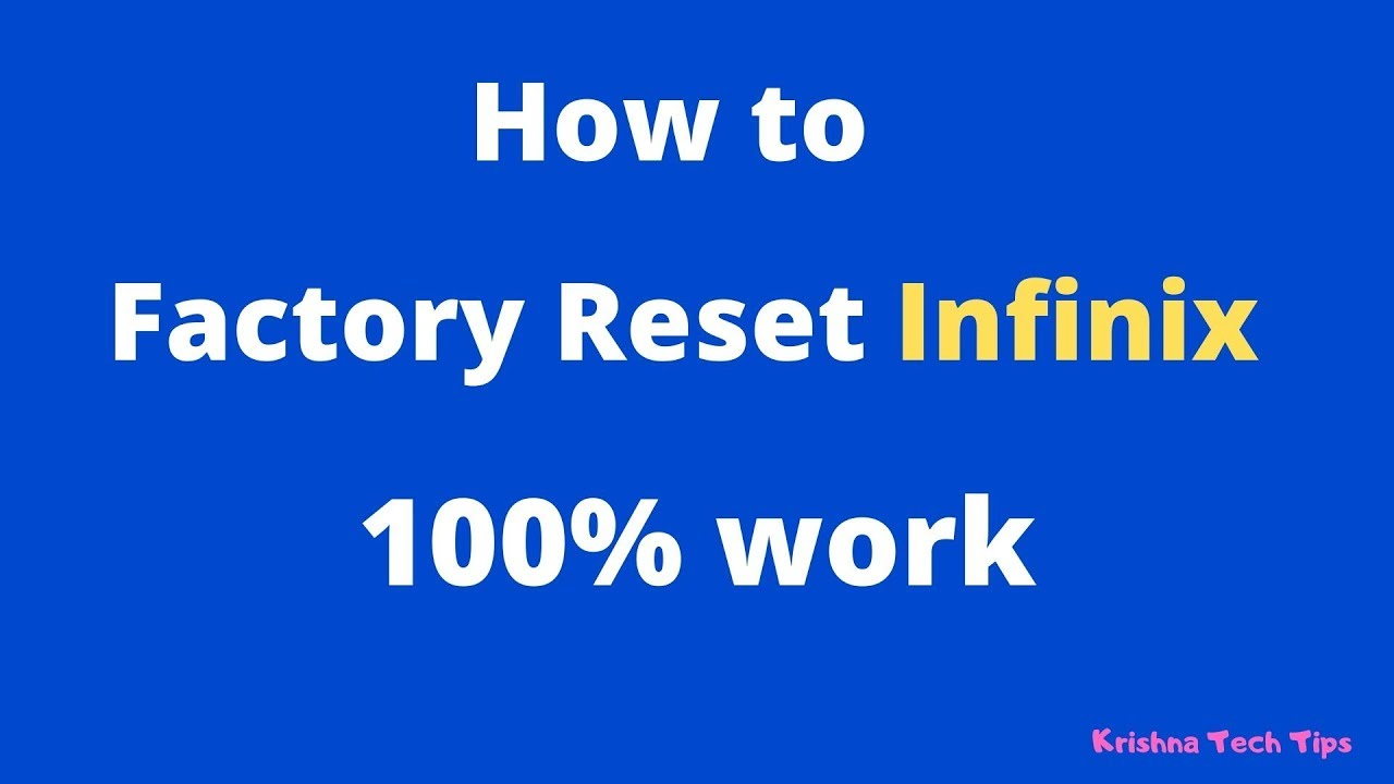 How to Reset Infinix S4 100% work