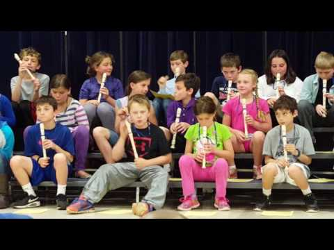 Ode to Joy on the recorder. 4th grade concert. May 2016