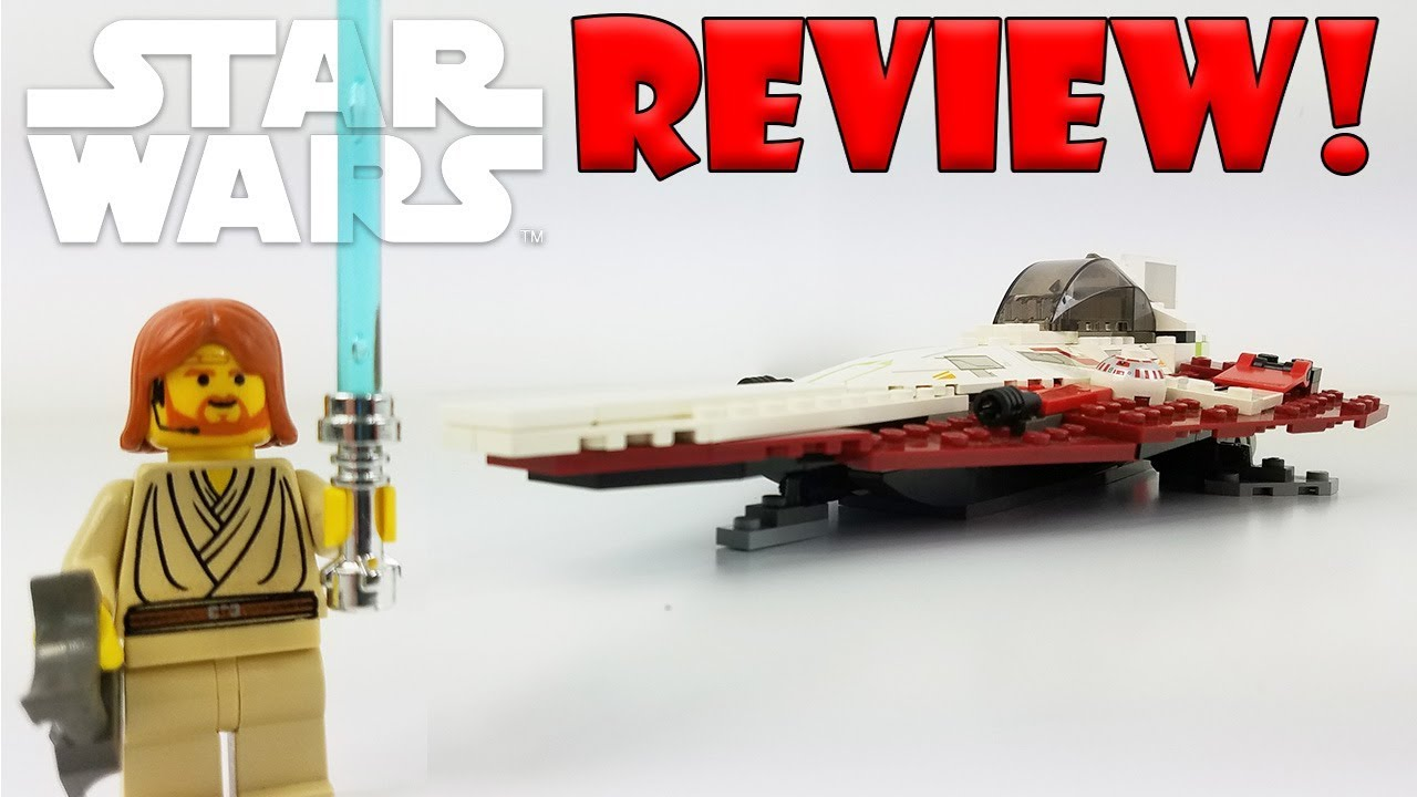 LEGO Star Wars Review: 7143 Jedi Starfighter (2002 Set) Nicely ...