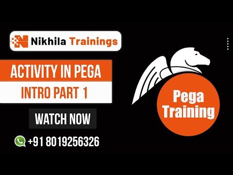 Pega Online Training-Activity in Pega intro part 1 -(Training wats app +91 8019256326 )