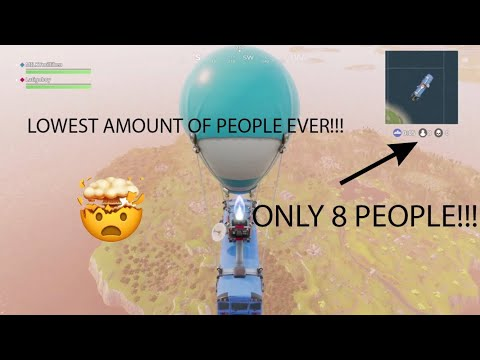 ONLY 8 PEOPLE IN A GAME OF FORTNITE!!! *WORLDS FIRST*