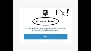 How To Fix Xbox Account/playstation Account Is Already Linked On Epic Games