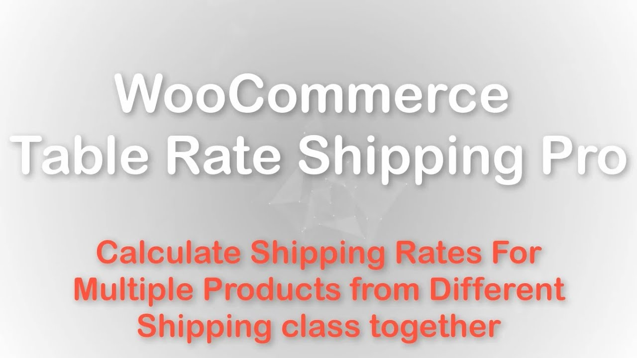 Calculate Shipping Rates for Combination of Products for Different Shipping  Classes