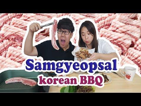 Samgyeopsal Korean bbq Mukbang