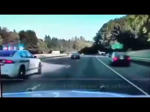 PIT maneuver and arrest on I-205 (Clackamas County Sheriff's Office)