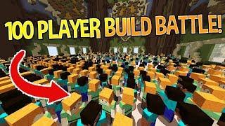 100 PLAYERS VS BUILD BATTLE EXPERIMENT! (Minecraft Build Battle)