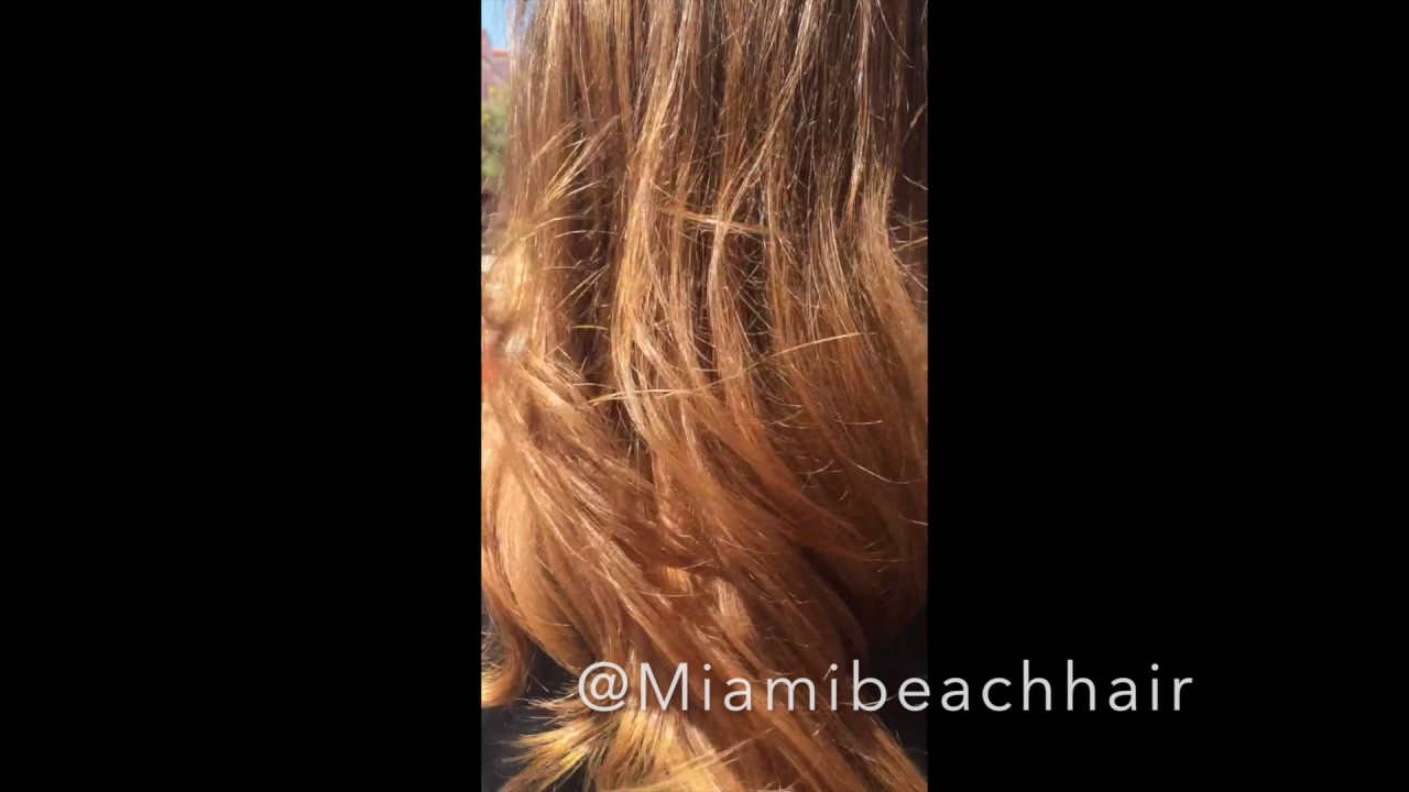 Best Balayage Color Miami Beach Hair Colorist Youtube