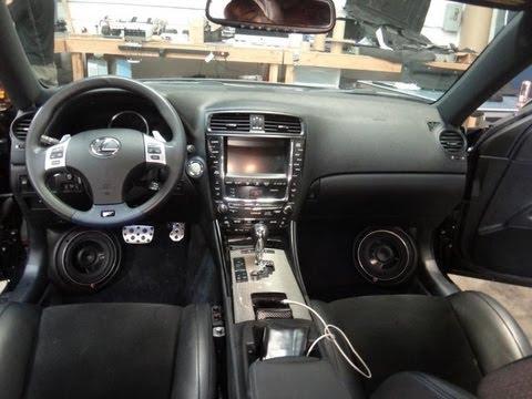 Custom Fiberglass Kick Panels Lexus Isf 7 000 Watt Sound
