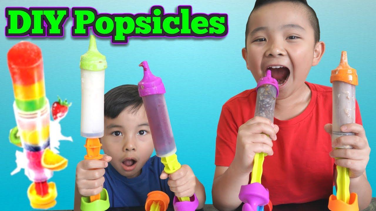 DIY Popsicles Ice Cream Fun with Calvin Kaison CKN