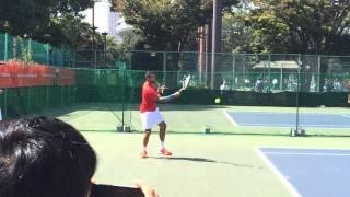 楽天ジャパンオープンテニス2014 ツォンガ公開練習