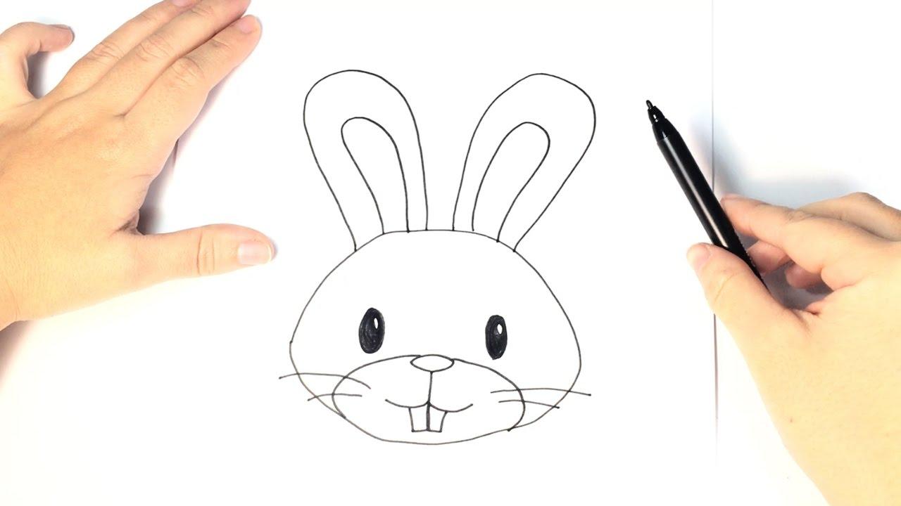 Cómo dibujar un conejo para niños paso a paso - YouTube