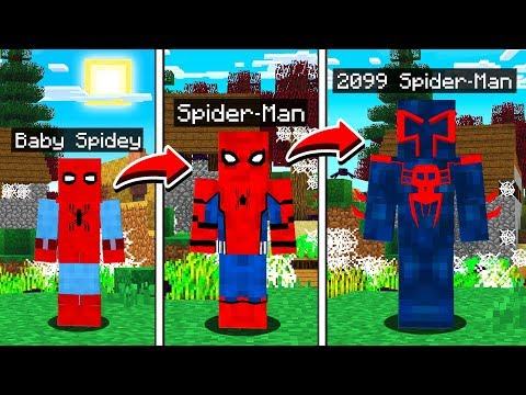 LIFE OF SPIDER MAN IN MINECRAFT!