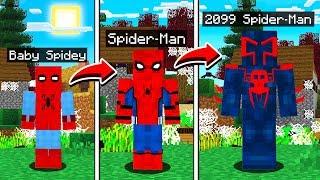 LIFE OF SPIDER MAN IN MINECRAFT!