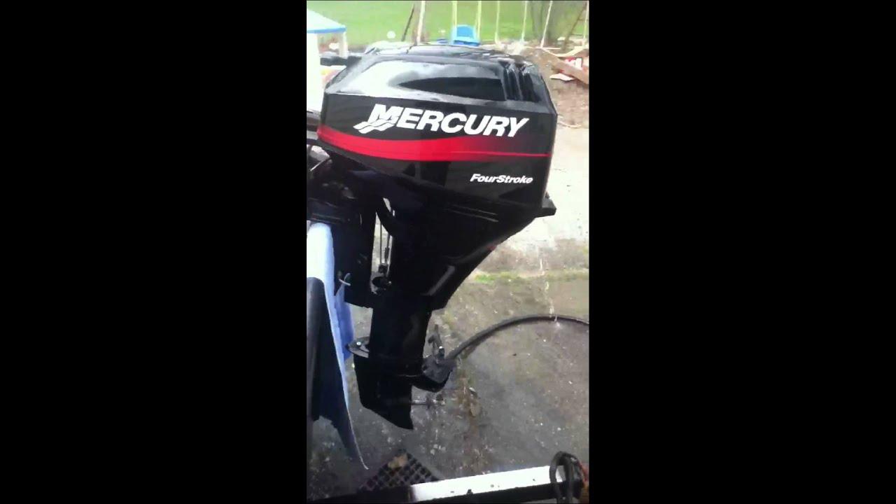 2002 Mercury 15hp Four Stroke Outboard Motor Youtube