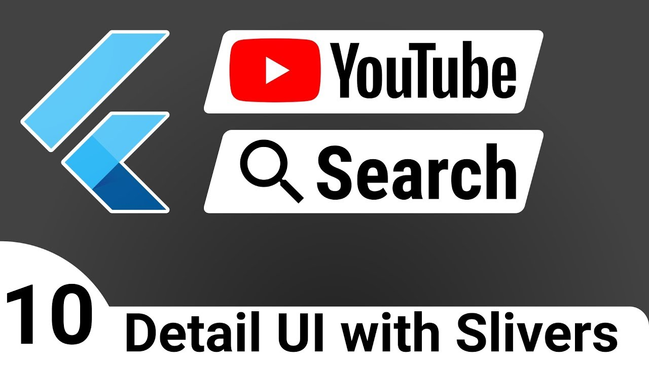Flutter: YouTube Search 10 – Detail UI with Slivers – BLoC