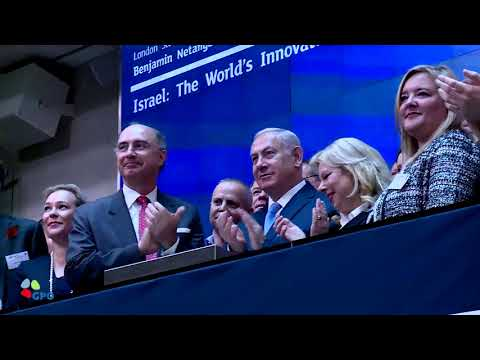 PM Netanyahu Opens Trading on the London Stock Exchange