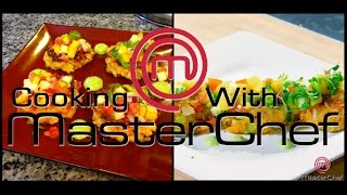 Cooking W/ Masterchef - Crab Cakes Topped With A Mango Salad W/ Avacado Cream Sauce