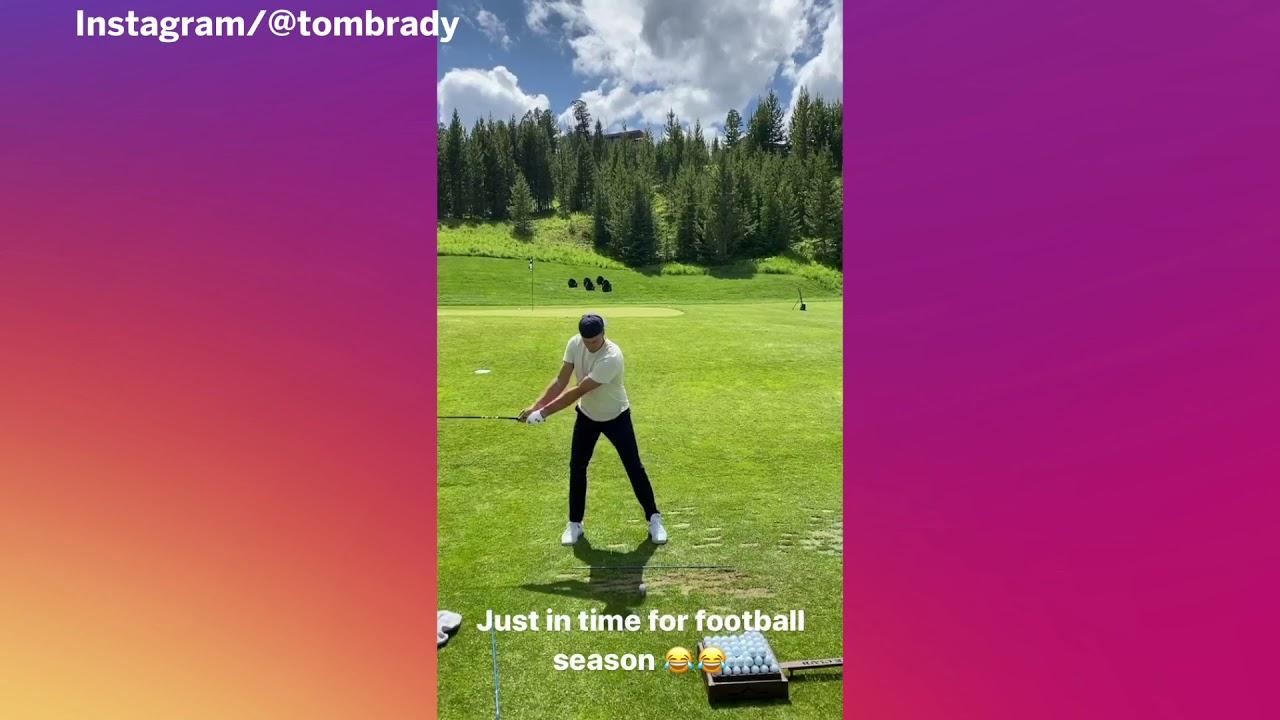 Tom Brady Smacks Golf Balls, Looks Ready For 'The Match 3'