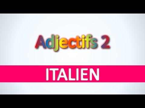 Italien   Adjectifs 2 - Apprendre vocabulaire italien pour débutants