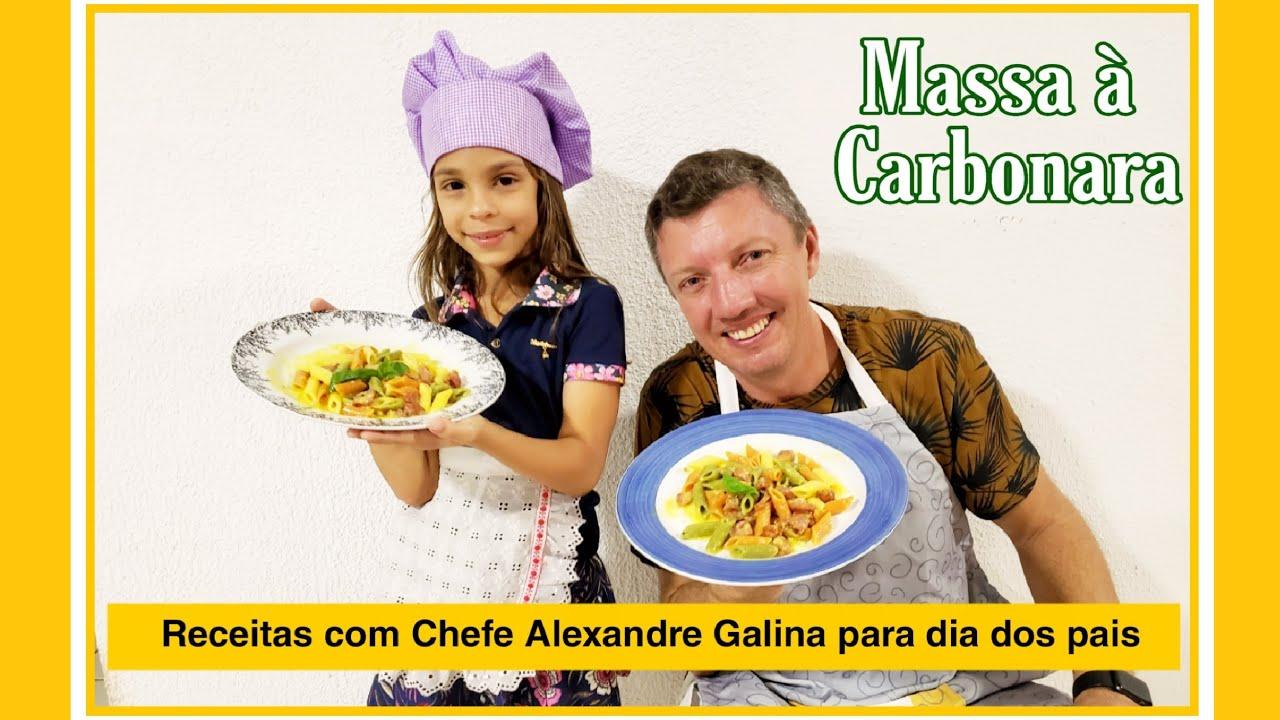#Receitas #diadospais #macarrão #carbonara #pudim #jogodepanela Cozinhando com chef Alexandre Galina