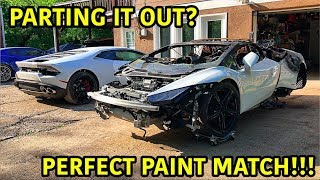 DOLLAR SHAVE CLUB: http://DollarShaveClub.com/goonzquad This is one of the most difficult challenges of rebuilding a wrecked car! The painting process ...