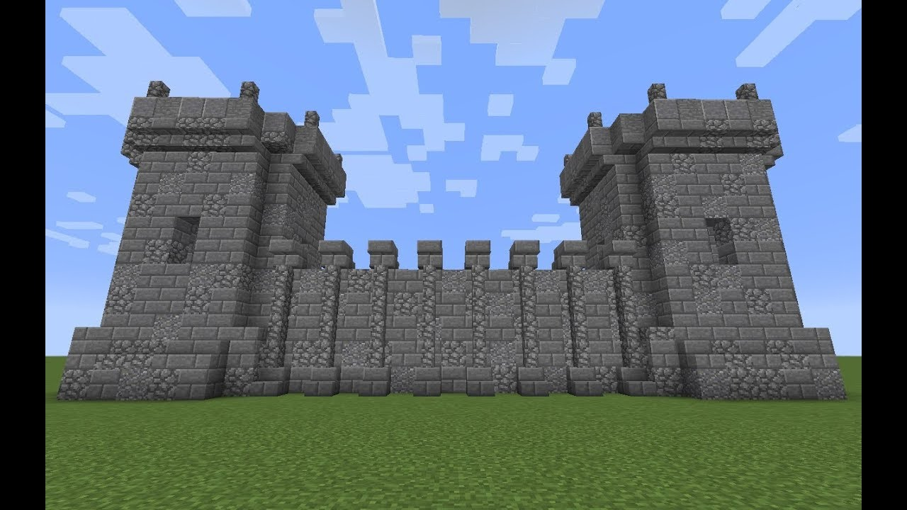 Medieval Wall And Tower Design A Minecraft Tutorial Youtube