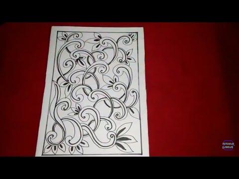 Cara Menggambar Batik Motif Bunga 15