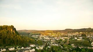 Nightfall over Gerolstein (Germany) [Time-lapse Photography]