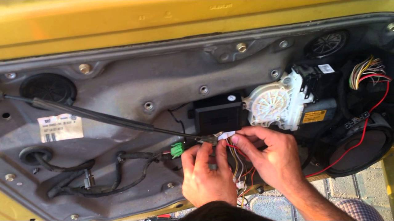 how to install keyless entry system in vw mk4 golf  jetta  bora  ,remote control   YouTube