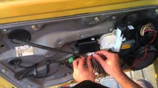 how to install keyless entry system in vw mk4 golf / jetta / bora / ,remote control /