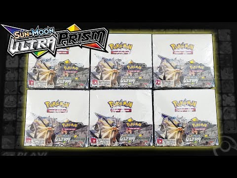 OPENING 6 POKEMON ULTRA PRISM BOOSTER BOXES OF POKEMON CARDS!!!   A WHOLE BOOSTER CASE!!!