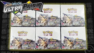OPENING 6 POKEMON ULTRA PRISM BOOSTER BOXES OF POKEMON CARDS!!! | A WHOLE BOOSTER CASE!!!